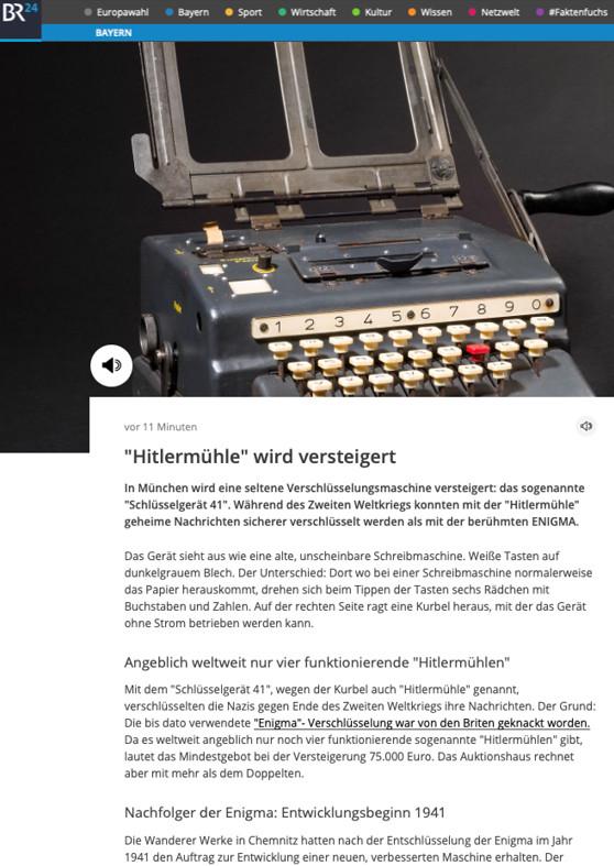 """""""Hitlermühle"""" wird versteigert"""