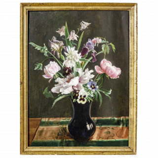 Leo Frank (1884 - 1959), still-life with flowers