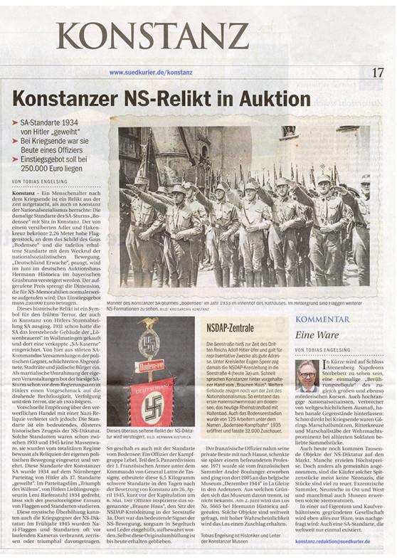 """""""Konstanzer NS-Relikt in Auktion"""""""