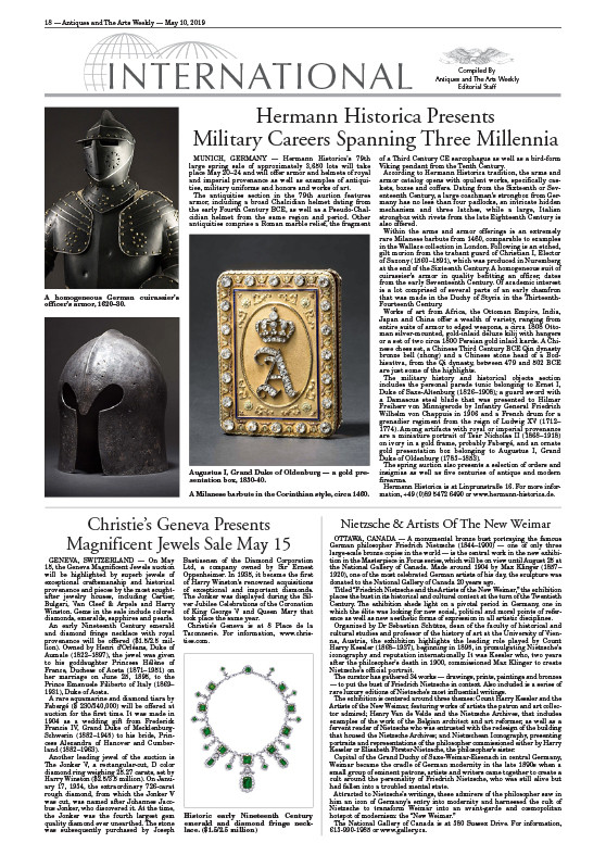 """Hermann Historica Presents Military Carrers Spanning Three Millennia"""