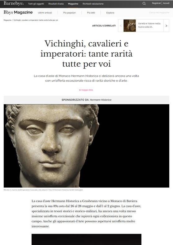 """""""Vichinghi, cavalieri e imperatori: tante rarià tutte per voi"""""""