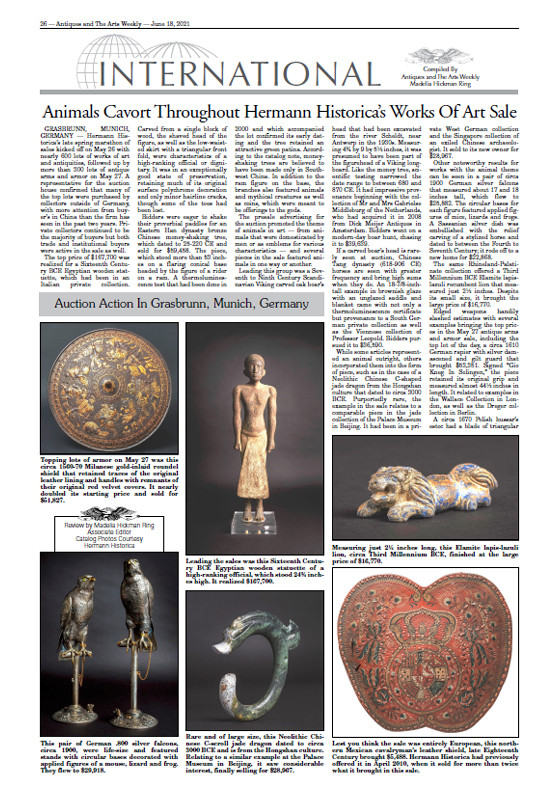 """Animals Cavort Throughout Hermann Historica's Works Of Art Sale"""
