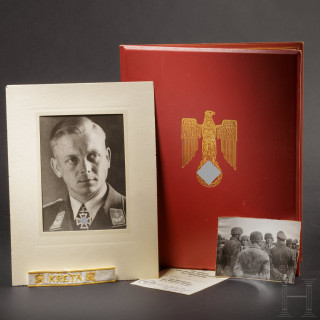 Hauptmann Rudolf Toschka – the large award document for the Knight's Cross of the Iron Cross and other documents