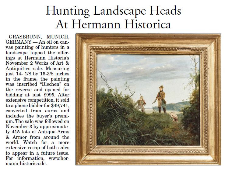 """""""Hunting Landscape Heads At Hermann Historica"""""""