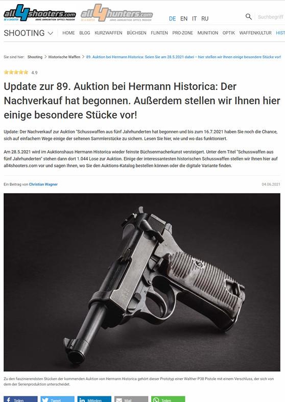 """""""Update zur 89. Auktion bei Hermann Historica: Der Nachverkauf hat begonnen. Außerdem stellen wir Ihnen hier einige besondere Stücke vor!"""