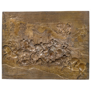 """""""The massacre of the Niobids"""" - an Italian bronze casting mould, in the style of Jean Cousin or Giambologna, 2nd half of the 16th century"""