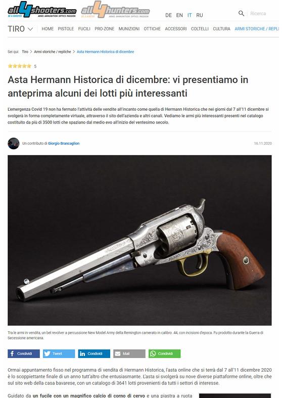 """""""Asta Hermann Historica di dicembre: vi presentiamo in anteprima alcuni dei lotti più interessanti"""""""