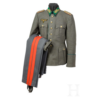 A field tunic with trousers for a Wehrmacht official of General's rank