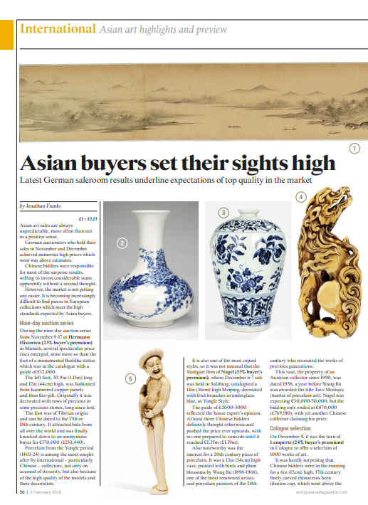 """Asian buyers set their sights high"""