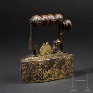 A French flat iron, circa 1700