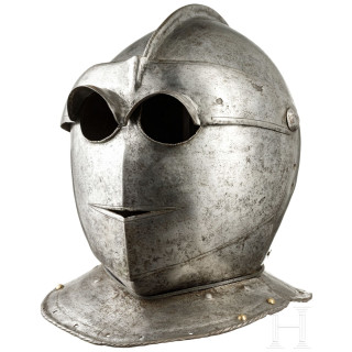A heavy North Italian Savoyard helmet, circa 1600