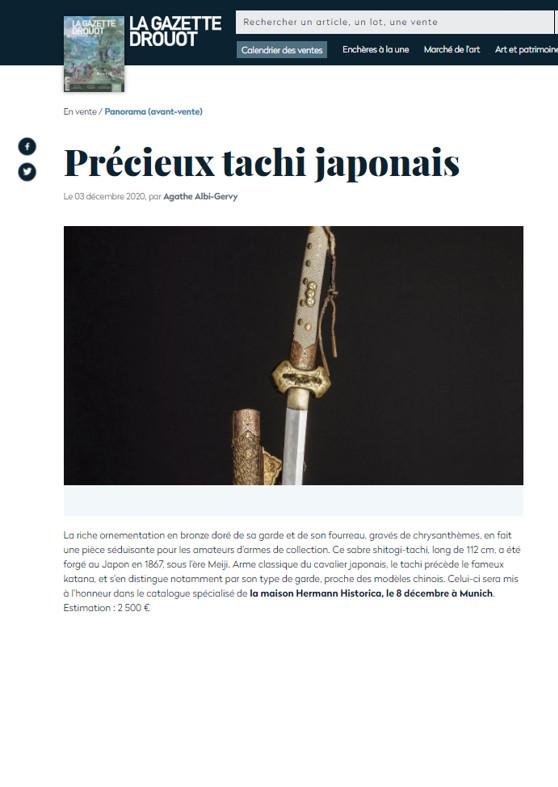 """""""Précieux tachi japonais"""""""