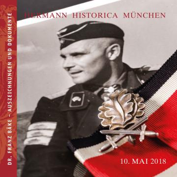 Dr. Franz Bäke - Auszeichnungen und Dokumente des hochdekorierten Panzergenerals