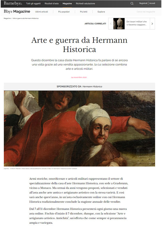 """Arte e guerra da Hermann Historica"""