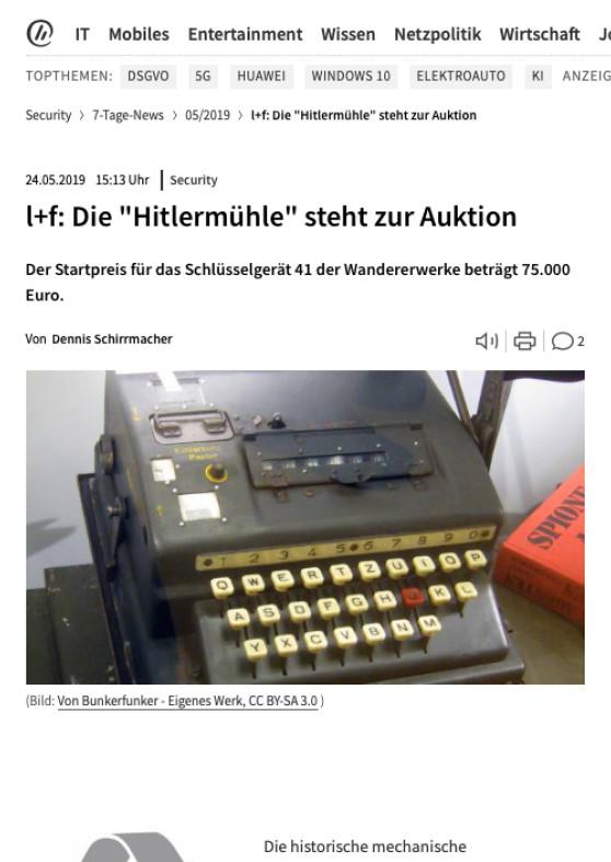 """""""l+f: Die """"Hitlermühle"""" steht zur Auktion"""""""