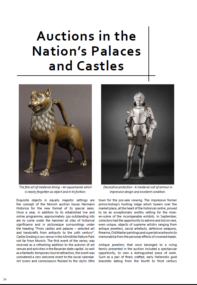 """Auctions in the Nation´s Palaces and Castles"""
