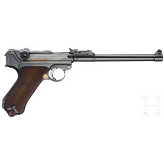 An Artillery Luger by DWM, 1915, with holster, shoulder stock and four mag's with matching numbers