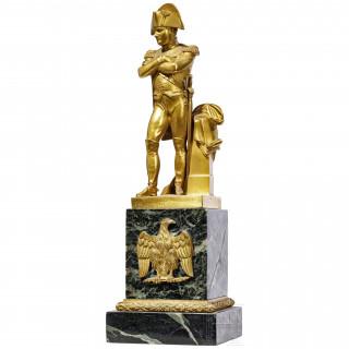 A French brass statuette of Napoleon Bonaparte, 19th century