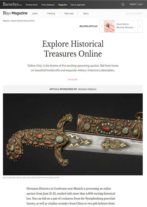 """Explore Historica Treasures Online"""